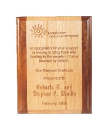 WOod Engraved Plaque